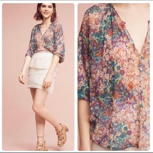 Anthropologie Weston Josephine Floral Blouse